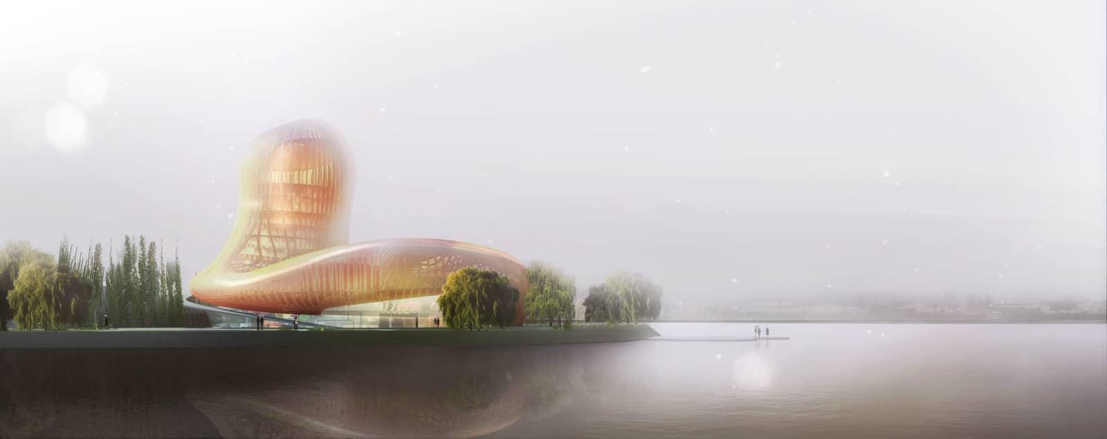 Centre culturel et touristique du vin bordeaux par x tu for Agence urbanisme paysage bordeaux