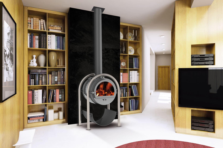 poele a bois orientable. Black Bedroom Furniture Sets. Home Design Ideas