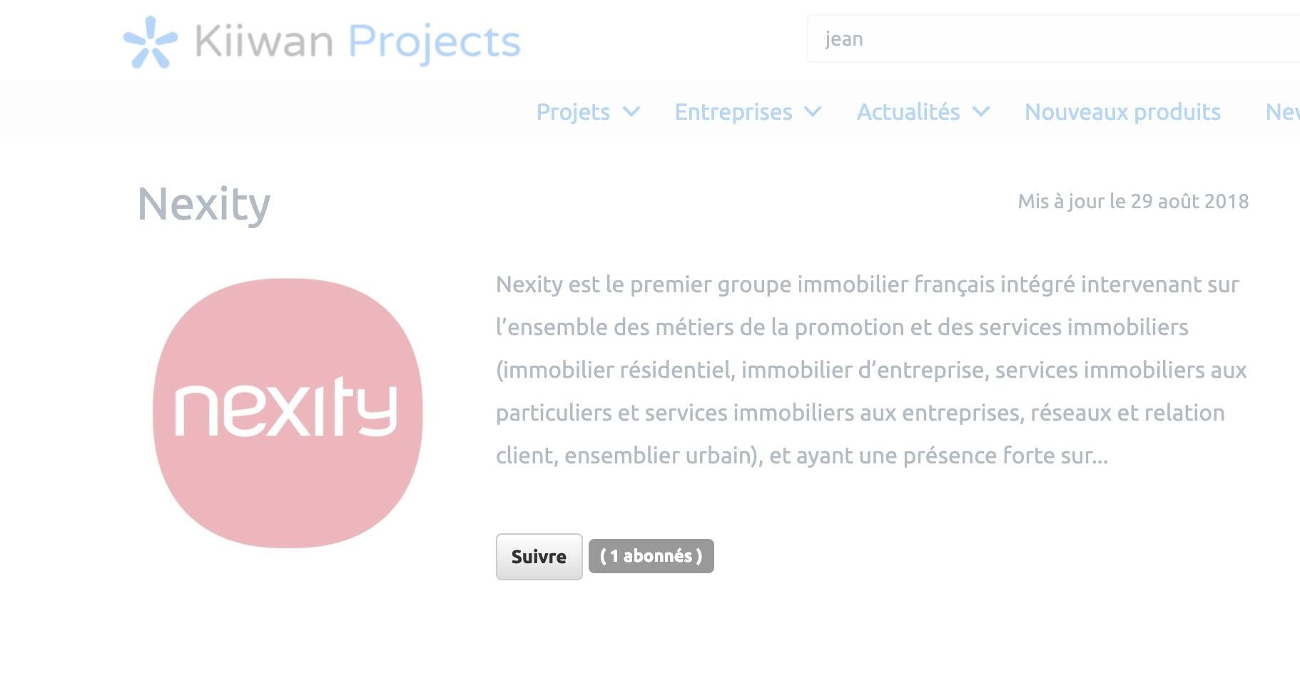 abonnement entreprise kiiwan projects
